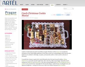 Artel 23. 12. 2014 http://www.pragueartelstyleblog.com/interviews/czech-christmas-cookie-mania.aspx