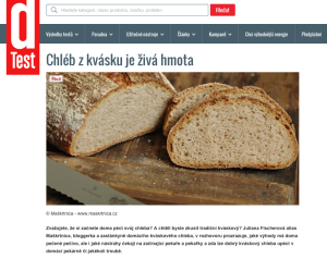 Dtest 15. 9. 2014 https://www.dtest.cz/clanek-3796/chleb-z-kvasku-je-ziva-hmota