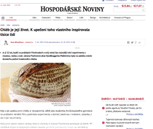 Hospodarske noviny 3. 10. 2013 http://life.ihned.cz/c1-60423600-foodblogger-pecempecen-juliana-peceni-chleb