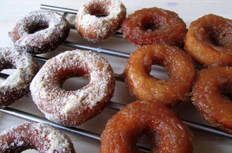 Ciderové donuty s jablkovou polevou