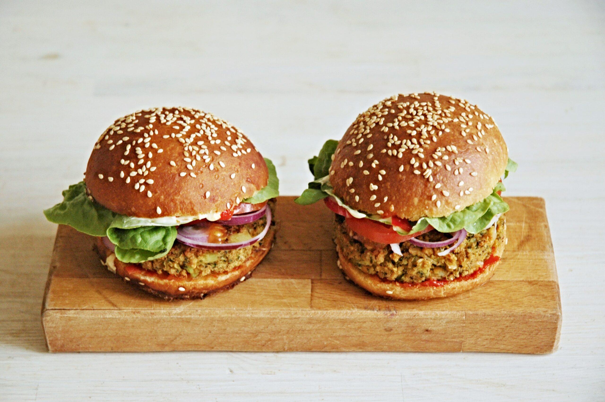 Burger housky po vegansku